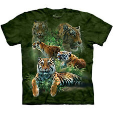 JUNGLE TIGERS T-Shirt The Mountain Siberian Collage Green Forest S-3XL NEW