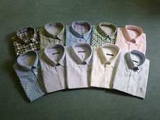 New Mens Shirt - 100% Cotton Oxford Weave Short Sleeve Shirt - Excellent Quality