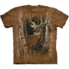 BIRCHWOOD BUCK Deer T-Shirt The Mountain Bow Hunting Hunter Nature S-3XL NEW