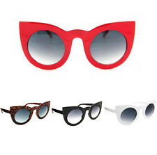 Hot Women's Retro Oversized Cat Eye Shades Round Frame Fashion Sunglasses L315