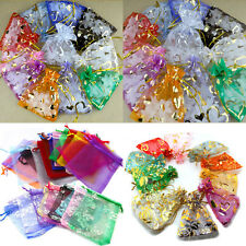 Lots 25/100Pcs Mixed Sheer Organza Party Wedding Favor Candy Gift Bag Pouch Accs