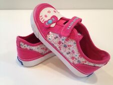 Keds Hello Kitty Glittery Kitty Girls Pink/White Canvas Sneakers KT49332
