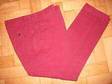 MENS QUALITY JOHN LEWIS KIN LAUNDERED CHINO MAROON TROUSERS PANTS 34S RRP £29