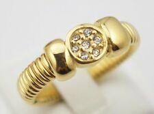 Fashion Stainless Steel Mesh Crystal Vintage Rings Gold Wedding Band Rings