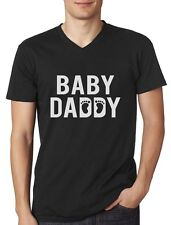Baby Daddy Funny New Dad Father's Day Gift For New Father V-Neck T-Shirt Novelty