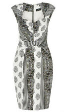 BNWT CUE Striped Paisley Dress Sz 6 & 8 RRP$289