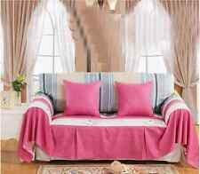 Cotton L-Shaped Sofa Lounge Couch Cover Protector for 1 2 3 4 seater tmaq O