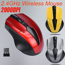 2.4GHz USB Optical Mouse Mice Cordless Receiver PC Computer Wireless for Laptop