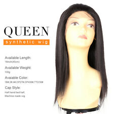 New Fashion Straight QUEEN Synthetic Wigs Lace Front Synthetic Hair Wigs 18 Inch