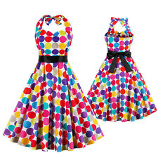 VINTAGE Rockabilly Polka Dot Swing 50s 60s Pin up Housewife Cocktail Party Dress