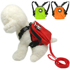 Cute Dog Harness Bag with Leash Pet Backpack Doggie Hiking Camping for Puppy S L