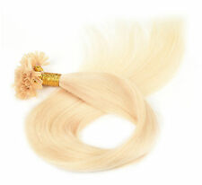 Nail U Tip Remy Straight Human Hair Extensions 100 Strands Pre Bonded 8 Colors
