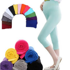 Elastic Solid Capris Leggings Pregnant Women Comfortable 7 Pant Maternity Cotton