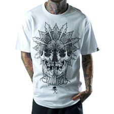 Men's Sullen Skull Mandala T-Shirt White Tattoo Art Lifestyle
