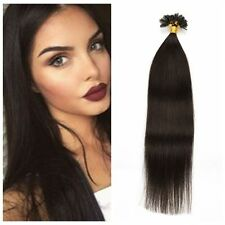 100 Strands Pre Bonded Remy Straight Nail U Tip Human Hair Extensions 8 Colors
