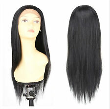 Heat Resistant Lace Front Wigs EULA Straight Synthetic Hair Wigs 20 Inch 150g