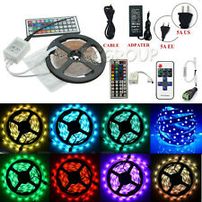 HOT 5M 300 Leds SMD-3528/5050/5630 Flexible Strip Fairy String Light+Remote+Plug