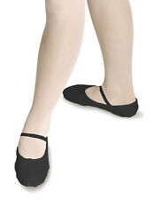 NEW GIRLS/CHILDRENS BLACK PRE-SEWN ELASTIC BALLET SHOES -  PRE-SEWN ALL SIZES RV
