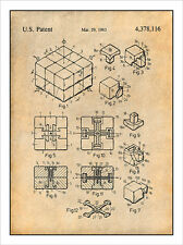 1983 Rubiks Cube Puzzle Patent Print Art Drawing Poster 18X24