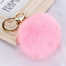 Fashion Rabbit Chain/Fur Ball Cell Phone Car Key Chain/Handbag Charm, 12 Colors