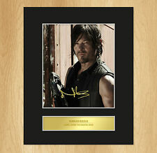Norman Reedus - Daryl Dixon Signed Mounted Photo Display The Walking Dead