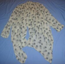 WINTER KATE BY NICOLE RITCHIE 100% VINTAGE SILK FLOWING TOP - SIZE MEDIUM