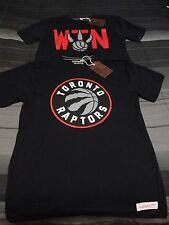 NWT TORONTO RAPTORS Mitchell and Ness Large Logo Tailored Shirt XL We the North