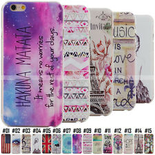 Fashion Painted Cute Pattern Slim Hard Clear Skin Case Cover Back For All iPhone