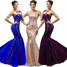 2016 Party Ball Gown Long Formal Wedding Cocktail Bridesmaid Prom Dress 2 4 6 8+