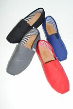 NEW  WOMENS CLASSIC CANVAS FASHION COMFORTABLE SLIP ON FLATS SHOES SALE