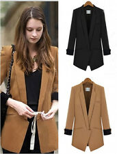 Women Slim Long Sleeve Lapel Business OL Suit Blazer Coat Jacket Casual Outwear