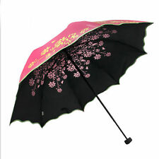 Fashion Windproof Anti UV Sun/Rain Princess Folding Umbrella Girls Parasol