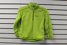 Marmot Boy's 100Wt Micro Fleece Rocklin 1/2 Zip Bright Lichen 83960 New With Tag