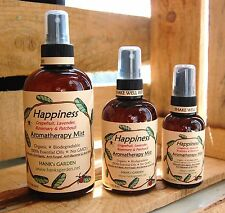 Organic HAPPINESS Aromatherapy mist spray Lavender Grapefruit Rosemary Patchouli