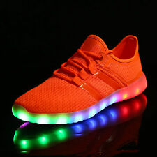 New Unisex LED Light Lace Up Luminous Sportswear Sneaker Casual Breathable Shoes