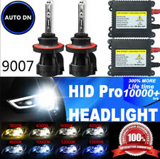 2x Conversion Kit HID Bi-Xenon Headlight Light Bulb Dual Beam 9007 DBK 55W Hi-Lo