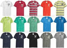 AEROPOSTALE MENS V-NECK T-SHIRT EMBROIDERED LOGO AERO A87 STRIPED TOP SHIRT NWT
