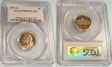 1973-S 5c PCGS PR69DCAM JEFFERSON NICKEL PROOF DEEP CAMEO PR 69