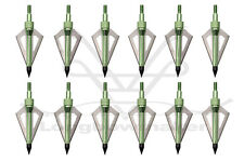 Sporting Goods Archery Hunting Broadheads 100grain Green 3 Blades Arrowtips Fit