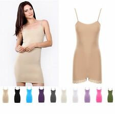 Seamless LONG Tunic Camisole Mini Dress| Onesie | Soft Jersey Layering Dress| US