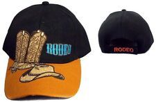Boots & Hat Rodeo Cow Boy Western Baseball Caps Hats  Embroidered   (ERodeo79)