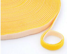 Width 1CM Cable Tie Nylon Strap Power Wire Management HOOK & LOOP Yellow