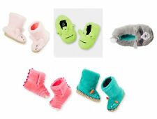 Carter's Boys Girls Blue Green Pink FOX~MONSTER Slippers Boots 7/8 9/10 NWT