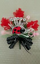 Baby shower MOMMY cute lady bug love bug corsage pink or blue