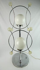 Mid Century Modern Chrome & Lucite 2-Way Table Lamp Atomic Space Age Works Great