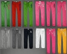 ABERCROMBIE & FITCH WOMENS SWEAT PANTS NWT CLASSIC SKINNY LOUNGE BANDED CROPPED