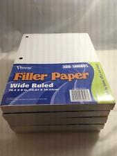Penway Filler Paper, Wide Ruled (Lot of 5 Packs/1625 Sheets Total)  #563960