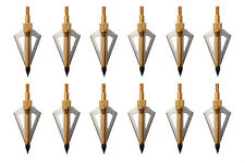 Outdoor Archery Hunting Broadheads 100grain Golden 3 Blades Arrowhead Compound