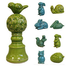 Antique Cracked Ceramic Style Ornaments Alice's Collection Animal Figures Decor