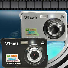 "18 Mega Pixels CMOS 2.7"" TFT LCD Screen HD 720P Digital Camera EU/US Plug Silver"